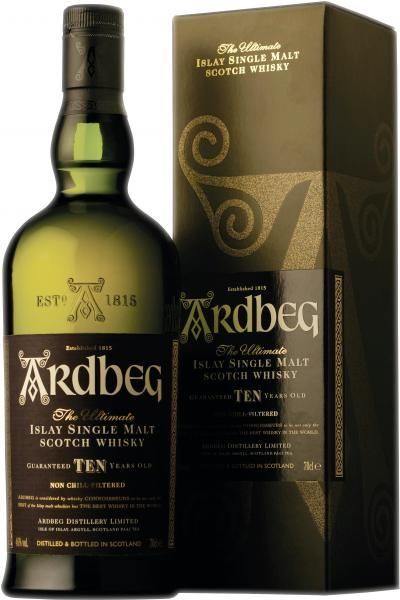 Ardbeg Islay Single Malt Scotch Whisky 10 Jahre 46% Vol.