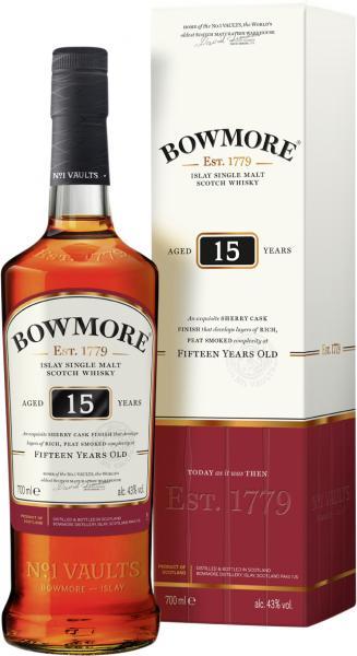 Bowmore Darkest Islay Single Malt Scotch Whisky 15 years