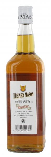 Boente Henry Mason Bourbon Whisky Kentucky