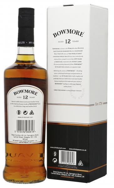 Bowmore Islay Single Malt Scotch Whisky 12 years