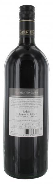 Spätburgunder Rotwein Heinrich Hansjakob