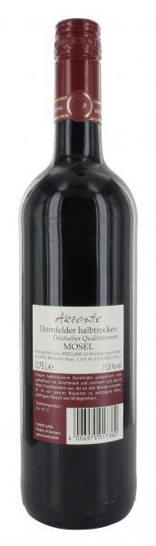 Moselland Akzente Dornfelder Rotwein halbtrocken
