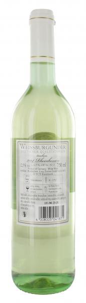 Weinkellerei Einig-Zenzen Weissburgunder Weißwein trocken