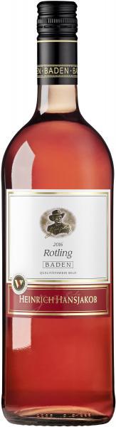 Heinrich Hansjakob Baden Rotling Roséwein lieblich