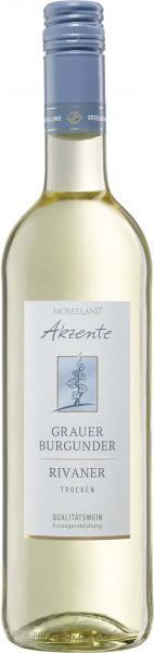 Moselland Akzente Grauer Burgunder & Rivaner Weißwein trocken
