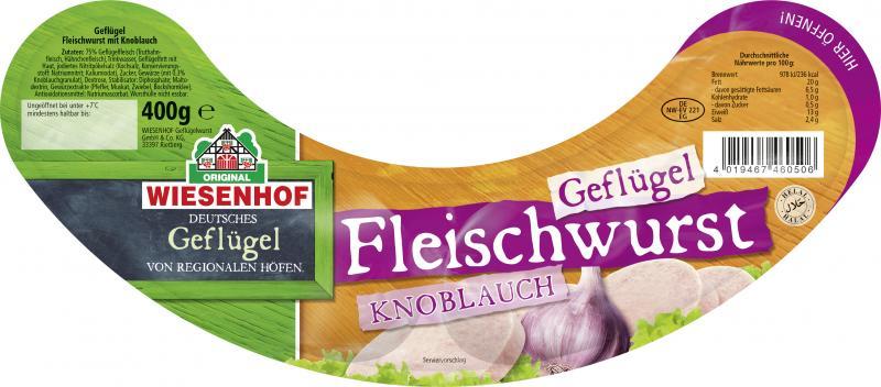 Wiesenhof Geflügel-Fleischwurst mit Knoblauch