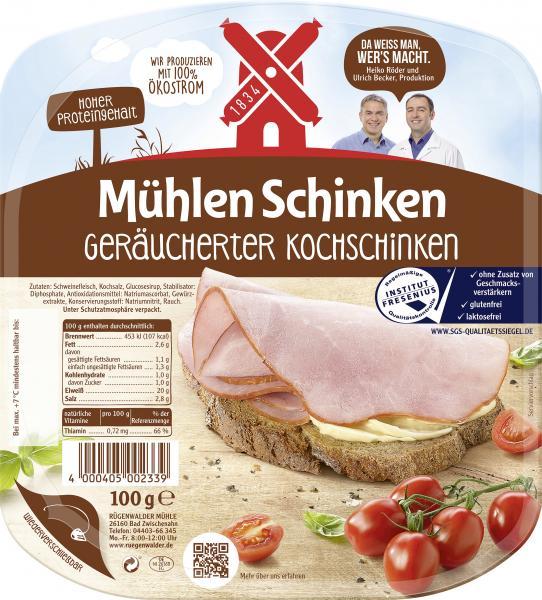Rügenwalder Mühle Mühlen Schinken geräucherter Kochschinken