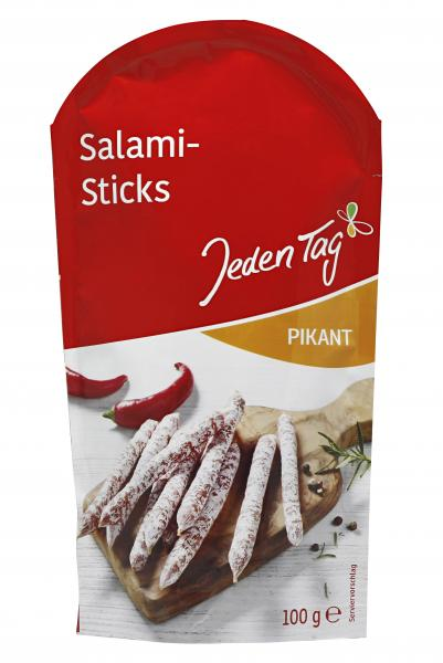Jeden Tag Salami-Sticks pikant