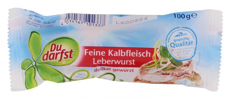 Du darfst Kalbsfleisch Leberwurst