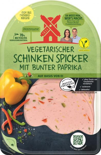 Rügenwalder Mühle vegetarischer Schinken Spicker mit bunter Paprika