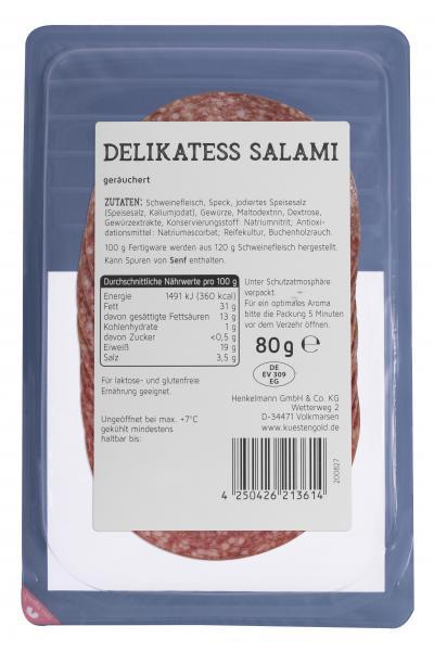 Küstengold Delikatess Salami