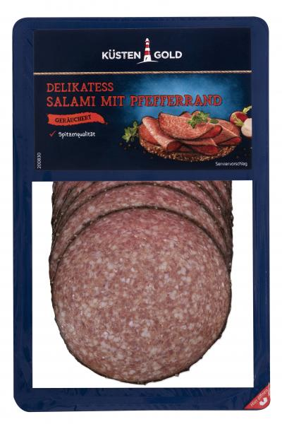 Küstengold Delikatess Pfeffer-Salami