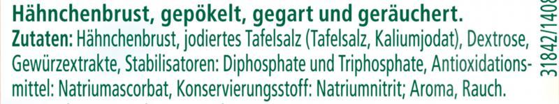 Herta Finesse Hähnchenbrust mit Buchenholz geräuchert