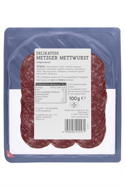 Küstengold Delikatess Metzger Mettwurst luftgetrocknet