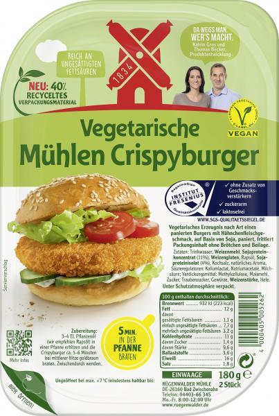 Rügenwalder Mühle Vegetarische Mühlen Crisbyburger