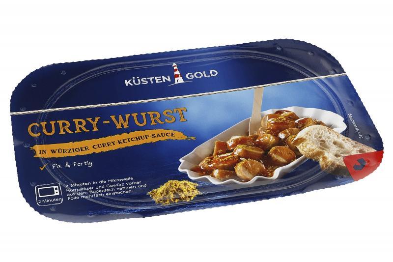 Küstengold Curry-Wurst