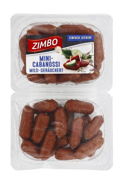 Zimbo Mini Cabanossi mild geräuchert