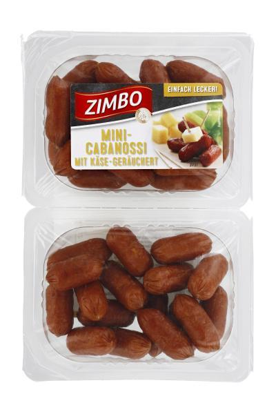 Zimbo Mini-Cabanossi mit Käse geräuchert