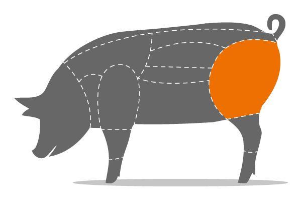 Schinkengulasch vom Schwein