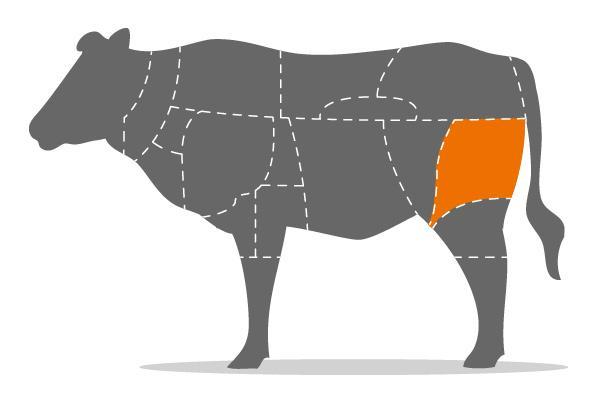 Rinderbraten aus der Keule