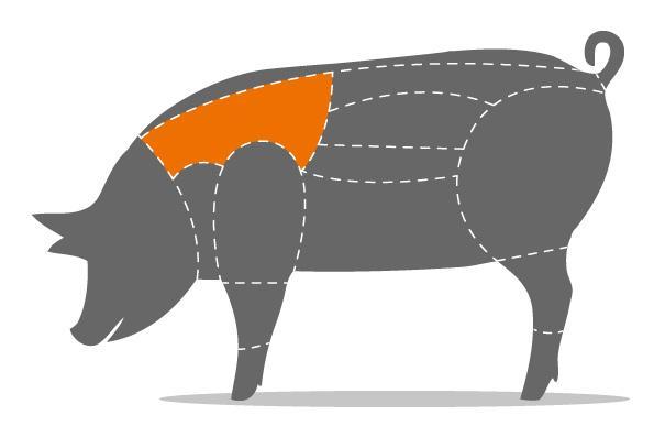Schweinenacken am Stück mit Knochen