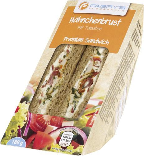 Fabry's Sandwich Hähnchenbrust mit Tomaten
