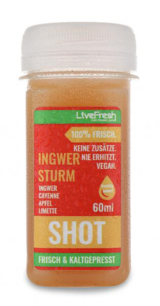 LiveFresh Frischer Wellness Shot Ingwer Sturm