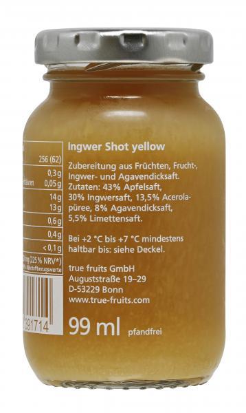 True fruits Ingwer Shot yellow