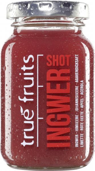True fruits Ingwer Shot red