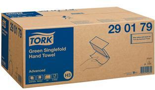 Tork Green Singlefold Hand Towel Advanced Einmalhandtücher (3750 Stück)