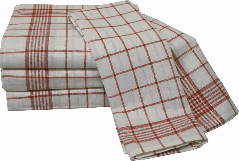 Halbleinen Geschirrtuch 50x70 rot/weiß, blau/weiß