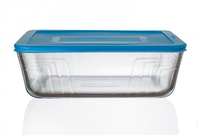Pyrex Glasbehälter rechteckig 4,0 Liter türkis