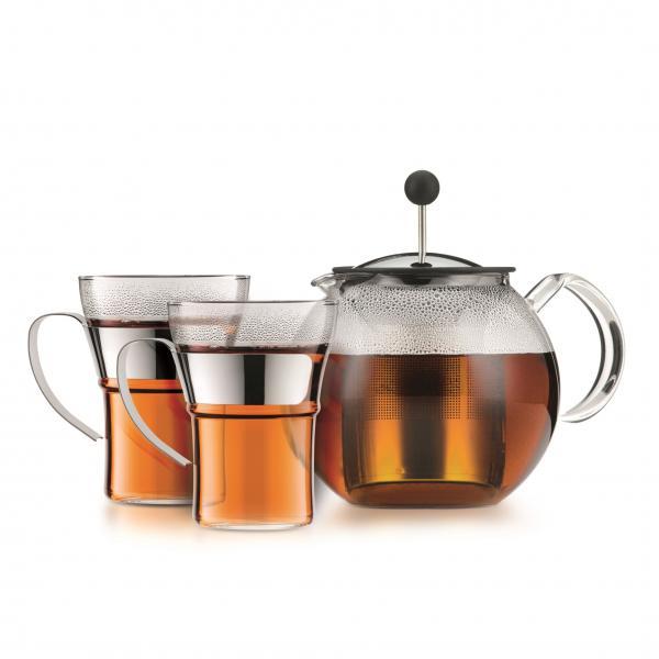 Bodum Assam Teeset Teebereiter + 2 Teegläser
