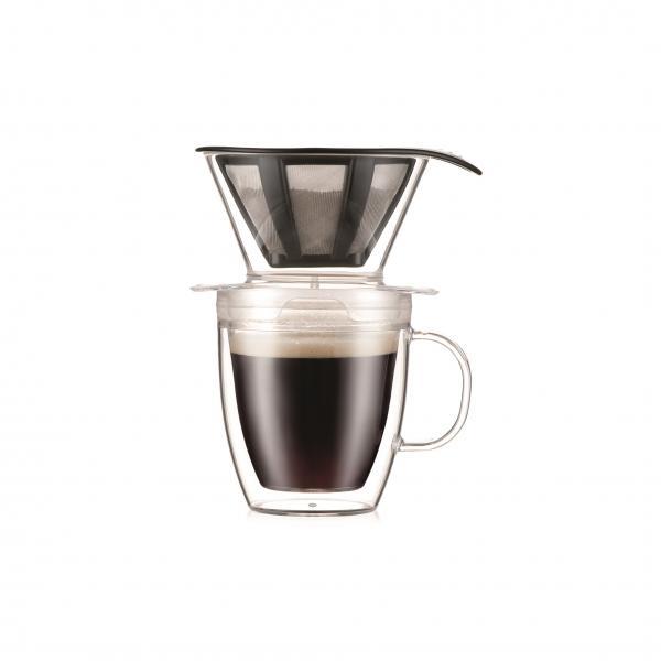 Bodum Pour Over Kaffeebereiter mit doppelwandigem Becher 0,35 Liter