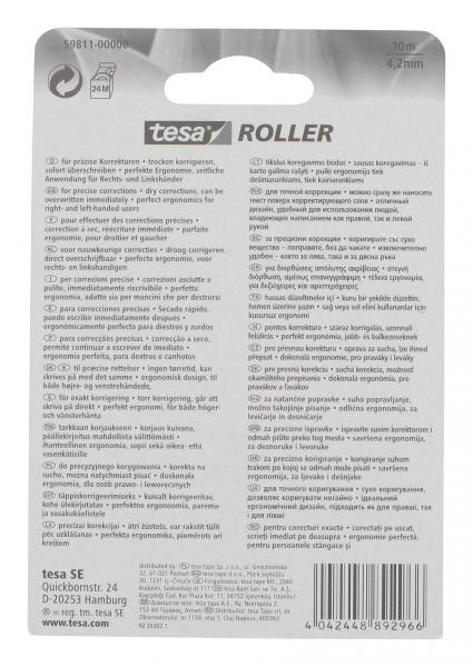 Tesa Roller Korrigieren 4,2mm x 10m