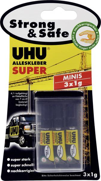 Uhu Alleskleber Super Strong & Safe Minis