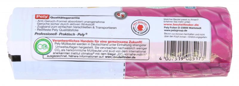 Pely Zugband-Müllbeutel Anti Geruch extra lang 60 Liter