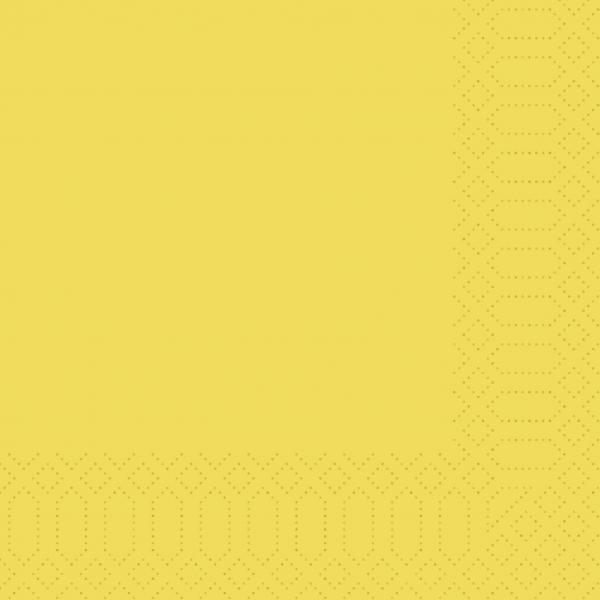 Duni Servietten 33x33cm gelb