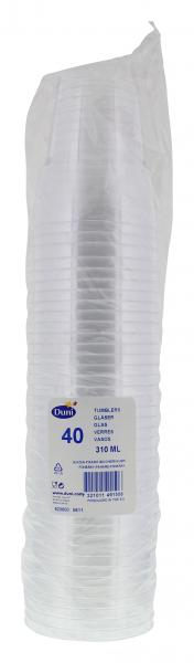 Duni Plastikgläser 310ml transparent