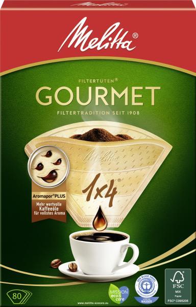Melitta Gourmet Filtertüten 1x4