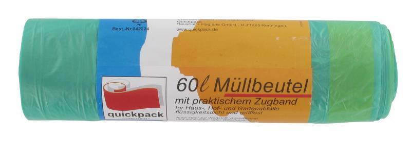 quickpack m llbeutel mit zugband 60 liter online kaufen bei. Black Bedroom Furniture Sets. Home Design Ideas