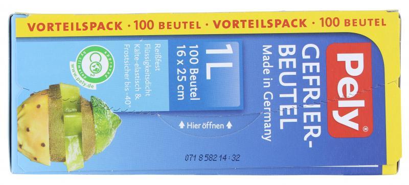Pely Gefrierbeutel 1 Liter Vorteilspack