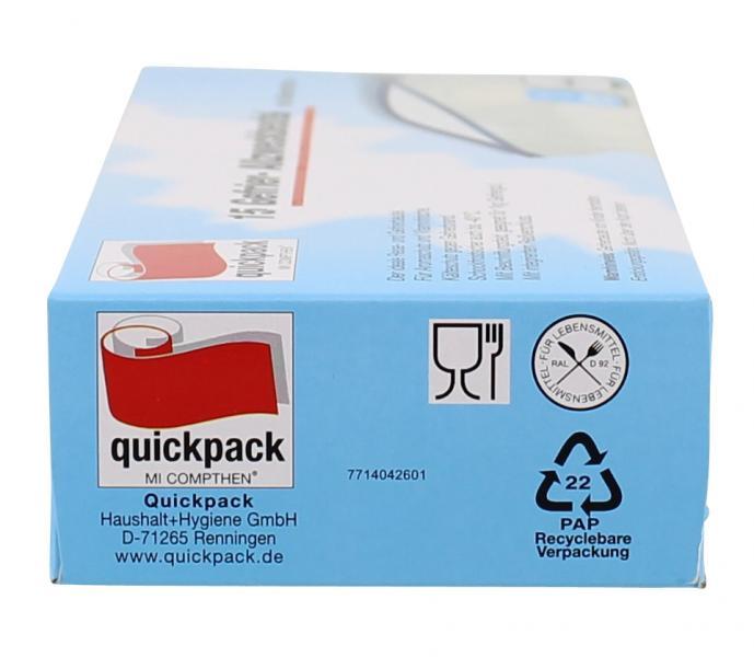 Quickpack Gefrier-Allzweckbeutel mit Reißverschluss 1 Liter