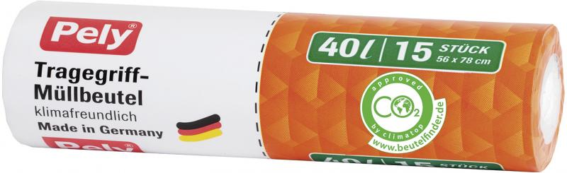 Pely Tragegriff-Müllbeutel 40 Liter