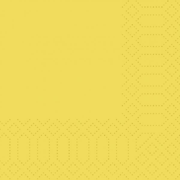 Duni Servietten 24x24cm gelb