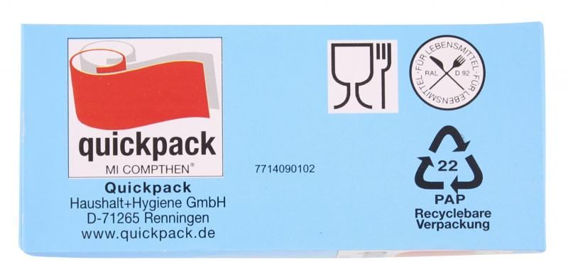 Quickpack Gefrierbeutel mit Reißverschluss 3 Liter