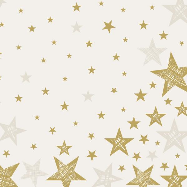 Duni Servietten Dunilin 40x40cm Shining Star cream 12 St.