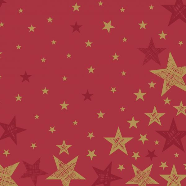 Duni Servietten Dunilin 40x40cm Shining Star red 12 St.