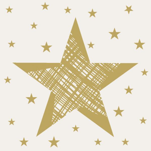 Duni Servietten Tissue 24x24cm Shining Star cream 20 St.