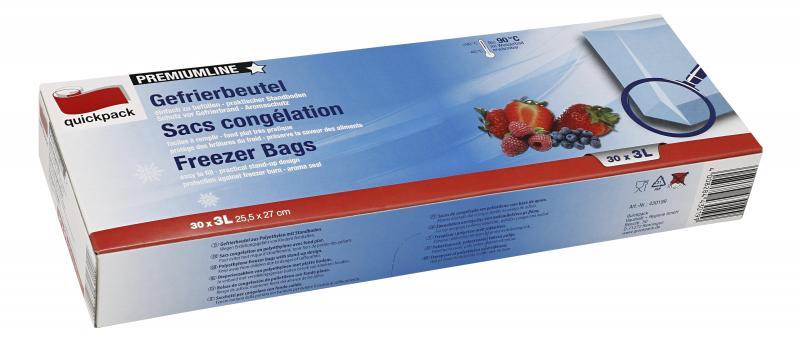 Quickpack Premiumline Gefrierbeutel 3 Liter